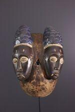 MASQUE BAOULE AFRICAN ART AFRICAIN PRIMITIF ARTE AFRICANA AFRIKANISCHE KUNST **