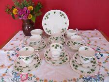 Lovely retro Vintage bone china Colclough Ivy Leaf Tea set 21 pieces