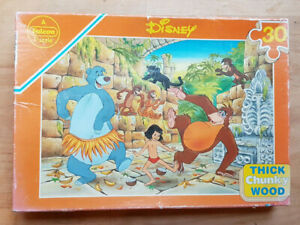 Disney Jungle Book - Wooden Jigsaw / 30 Pieces - Falcon Games Ltd / Complete