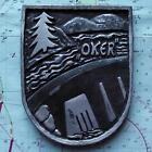 Oker German Navy Ship Metal Tampion Plaque Crest