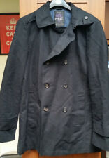 Mens 100% Cotton Jacket/ Coat from H.E by MANGO In Size UK Large - Matte Black