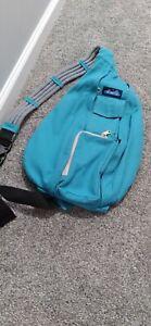 KAVU Teal Rope Sling Bag, Tranquil, Banded Rope Strap