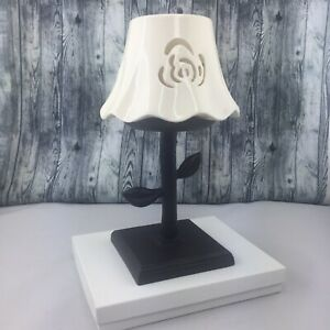Large Home Interiors Tea Light Lamp with Shade Gently Used