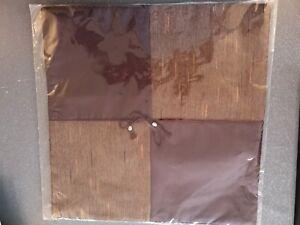 New/BNIP Brown Thai Silk Cushion Cover Home Soft Furnishings