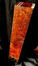 Exact Amboyna Burl Wood Blank 2x2x12 Pool Cue Building Knife Scales Door Knobs