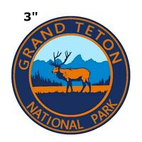 Grand Teton National Park Patch Travel State Park Embroidered Iron or Sew-on