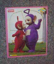 TELETUBBIES WOOD FRAME TRAY PUZZLE PLAYSKOOL WOODEN PURPLE TINKY WINKY & PO