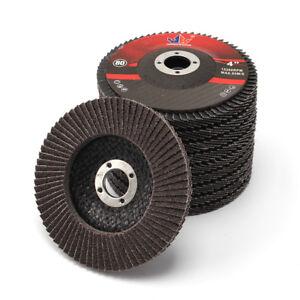 10Pcs 4''x5/8'' High Density Calcined Aluminum Oxide Flap Wheel Disc 80 Grit