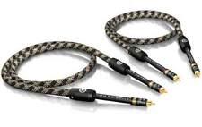 1,0 m VIABLUE NF-S1 silver QUATTRO Câbles Câble RCA plaqué or T6S FICHE