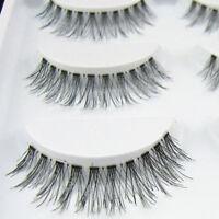 Bluelans 5 Pairs Natural Cross Eye Lashes Extension Makeup Long False Eyelashes