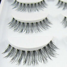 Bluelans 5 Pairs Natural Cross Eye Lashes Extension Makeup Long False Eyelashes