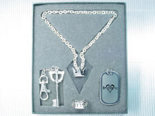 Kingdom Hearts Sora Ring Key Blade Dog Tag Necklace Set PG