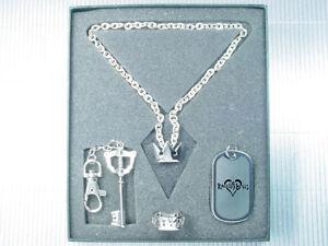Kingdom Hearts Sora Ring Key Blade Dog Tag Necklace Set PG