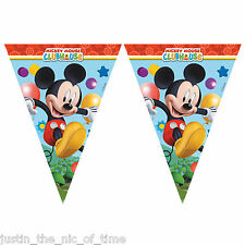 Disney Mickey Mouse CLUBHOUSE Boys Party Plastic Flag Banner Bunting