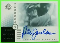 2001 PETER JACOBSEN UPPER DECK GOLF AUTHENTIC SIGNATURE SIGN OF THE TIMES PGA