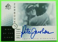 2001 UD AUTOGRAPHED PETER JACOBSEN GOLF PGA TOUR UPPER DECK 1-OWNER