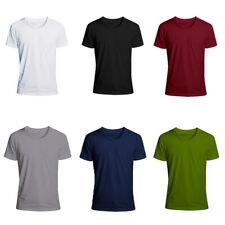 Para Hombre Camisetas Para Hombre Manga Corta Camisa Informal S Deportes 5XL Slim Fit cuello redondo