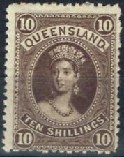 Mint Hinged Queensland Single Australian Stamps