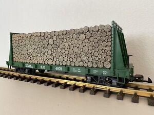LGB 4078 :: Southern Pacific Bulkhead Flatcar G-Scale