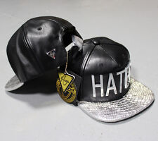 Hater Silver Snakeskin Strapback Hat Cap Snapback Paislee NEW