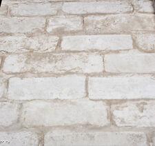 Oxford White Photo Realistic Faux Brick Wallpaper MAN20098