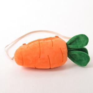 Lolita Girl Cute Carrot Pattern Plush Shoulder Bag Crossbody Bag Handbag