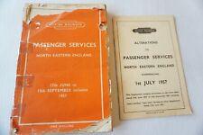 More details for june - sept 1957 north eastern region passenger railway timetable