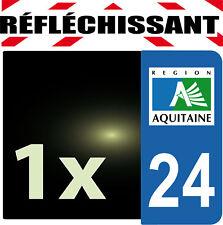 DEPARTEMENT 24 rétro-réfléchissant Plaque Auto 1 sticker autocollant reflectif