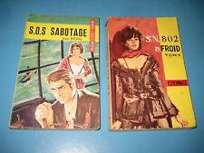 Lot de 2 Livres de poche Collection ESPIONNAGE-SERVICE n° 74 et 90