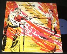 ARTICLES OF FAITH In Word and Song Jesus Christ of Latter Day Saints LP