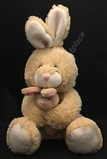 """Best Made Toys EASTER BUNNY RABBIT 8"""" Beige Tan Plush Mom holds Baby Soft 2011"""