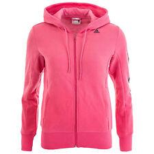 Adidas Ess 3s Linear Donna Felpa con cappuccio e Zip Giacca sportiva Rosa S 36