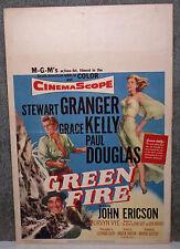 GREEN FIRE original 1955 movie poster GRACE KELLY/STEWART GRANGER