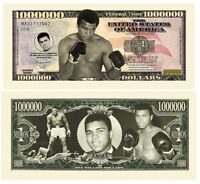 2016 Muhammad Ali 1 Million Dollars Color Novelty Money Note Limited Edition