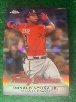 Ronald Acuna Jr. 2019 Topps Chrome The Family Business Refractor #8 Braves C4RD5