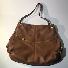 Michael Kors Genuine Leather Hobo Purse Tote Brown Shoulder