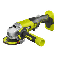 Ryobi ONE+ 18V Cordless Angle Grinder - 115mm disc, anti-vibration, spindle lock
