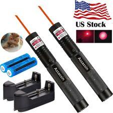 2x 990Miles 650nm Red Laser Pointer Pen Assassin Visible Lazer+18650Batt+Charger