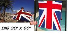 Reino Unido Gran Bretaña Bandera Toalla de Playa Baño Algodón Piscina Spa Abrigo