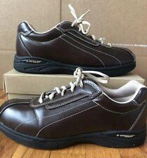 4bea91ad89e Dunlop Sport Brown/Tan Leather Walking/Athletic Tennis Shoes 9M - EUC