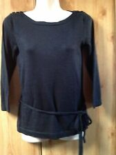 Women's Boat Neck Button No Pattern Jumpers & Cardigans