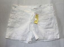 FILO Brand White Cotton Casual Shorts Size 8 BNWT #SD37