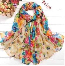 Wholesale Fashion Women's Lady Chiffon Scarf Dress Soft Wrap Long Shawl Gifts SZ