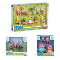 Peppa Pig Toy Figure Sets 3 Choices Fancy Dress Party Pk OR Family Figure Pk NEW