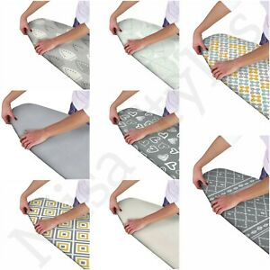 MODERN EASY FIT ELASTICATED IRONING BOARD COVER DOUBLE LAYER BACKING WASHABLE