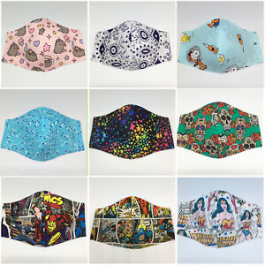 Ready made Triple layer fabric face mask 50+ different prints MADE IN AUSTRALIA