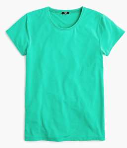 J Crew Shirt Womens Small New Bright Green Short Sleeve 365 Stretch Slim Fit Tee