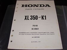 Nos Honda Oem Parts Catalog Manual Xl350-K1 Xl 350