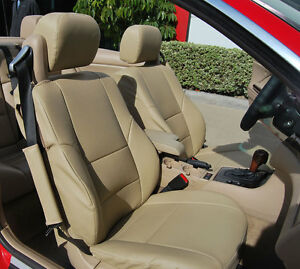 BMW 325CI CONVERTIBLE 2001-2008 IGGEE S.LEATHER CUSTOM FIT SEAT COVER 13COLORS