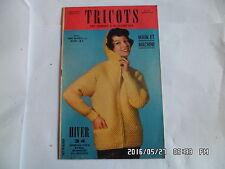 LES TRICOTS DE FEMMES D'AUJOURD'HUI N°124 1960 MODELES FEMME ENFANT HOMME    J46